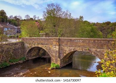 Quaker Bridge, spanning Pendle Water in Brierfield, Nelson, Lancashire