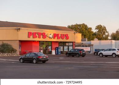 Quakertown, PA/USA - October 1, 2017: Pets plus store