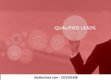 QUALIFIED LEADS - marketing concept