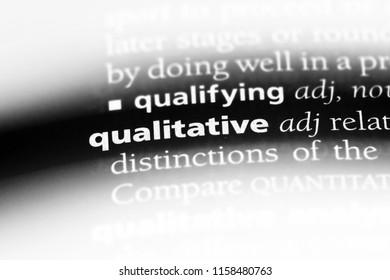 qualitative word in a dictionary. qualitative concept.