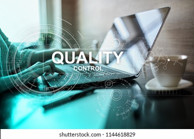 Quality assurance. Control and standards compliance. Business process standardization. Business and technology concept.