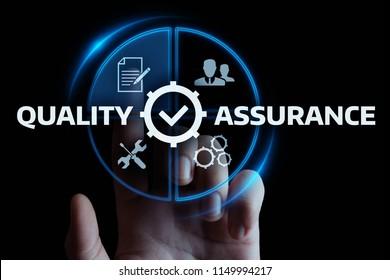 Quality Assurance Service Guarantee Standard Internet Business Technology Concept.