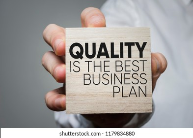 Quality is the best business plan. Business development concept.