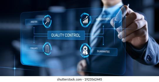 Quality control assurance standard certification technology concept.