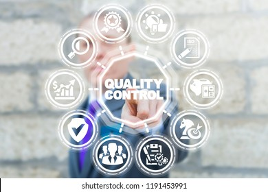 Quality Control. ISO Standardization Certification Business Industry Service concept.