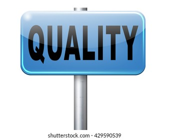 Quality control label 100% guaranteed warranty and top product survey.
