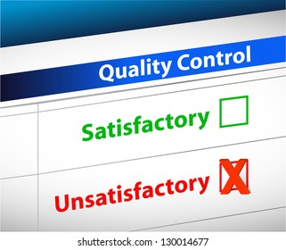 quality control Results business paperwork illustration design graphic