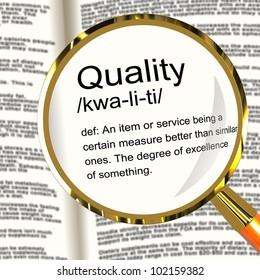 Quality Definition Magnifier Shows Excellent Superior Premium Product
