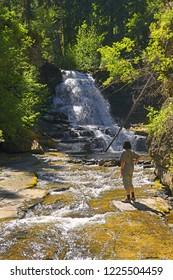 Quality Falls of Monkman Provincial Park, Northern Rockies, British Columbia, Canada