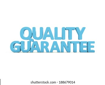 Quality guarantee icon on a white background. 3D illustration