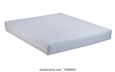 Quality mattress isolated on white