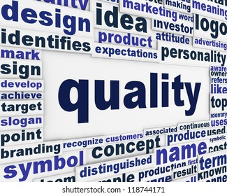 Quality poster conceptual design. Satisfaction message background