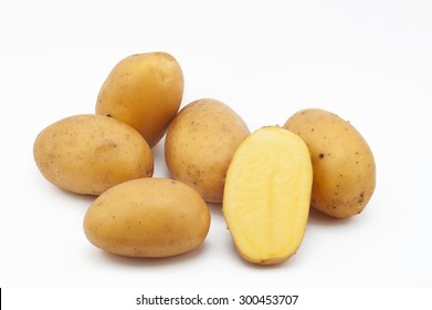 Quality of potatoes talent. Potatoes isolated on white background