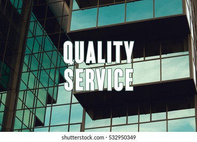 Quality Service, Business Concept
