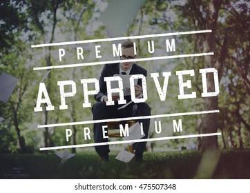 Quality Service Guaranteed Premium Quality Concept