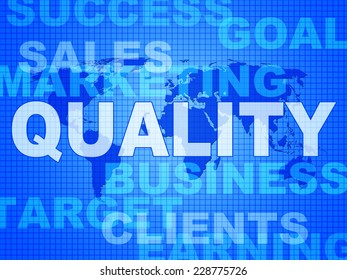 Quality Words Representing Perfect Certified And Approved