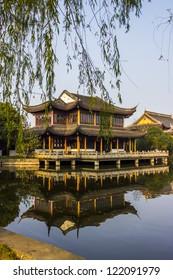 Quanfu Temple in the fall at Zhouzhuang, Jiangsu Province, China