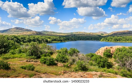 Quannah Parker Lake in the Wichita Mountains of near Cache, Oklahoma, USA
