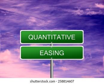 Quantitative Easing dollar sign crisis stimulus USA.