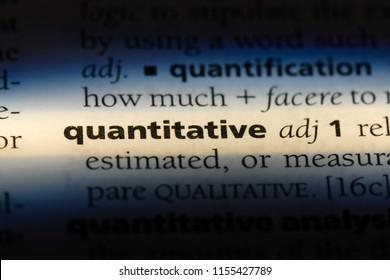quantitative word in a dictionary. quantitative concept.