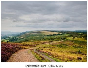 Quantock Hills view towards minehead