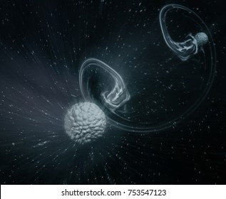 Quantum Tunnelling - Abstract Illustration