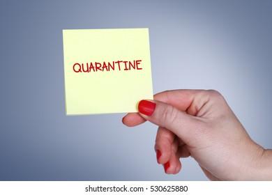 Quarantine, Health Concept