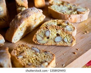 """Quaresimali"" (""Lenten""): homemade almond biscuits typical of the Easter period, traditional from the south of Apulia (Salento), Italy. Their appearance is similar to that of the Tuscan ""Cantucci""."