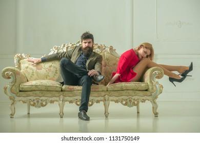 quarrel. family quarrel between husband and wife. couple has quarrel. quarrel between bearded man and his girlfriend
