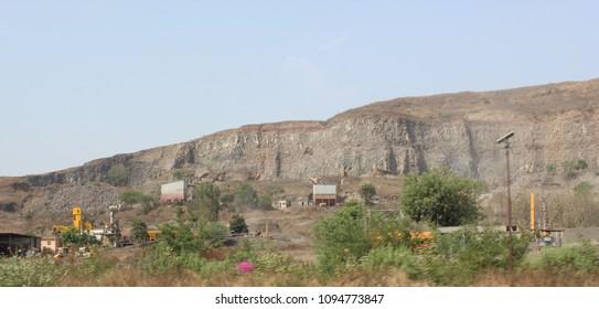 Quarry in a hillside