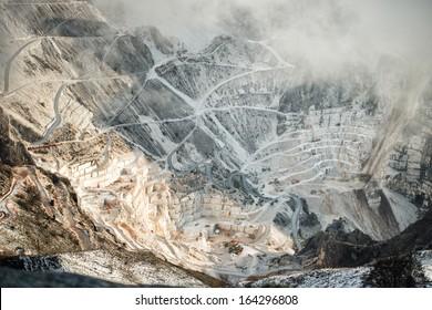 quarry in tuscany, Italy, Carrara