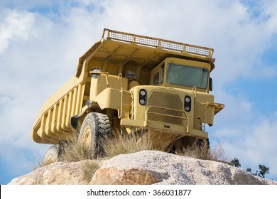 quarrying truck.Truck for the extraction of marble, sand and other construction materials and minerals