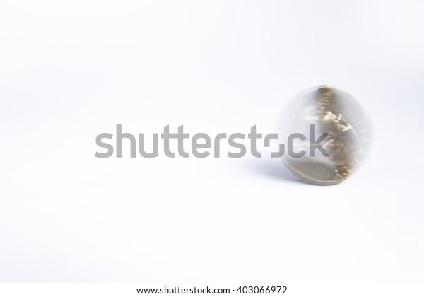 Quarter dollar coin spinning