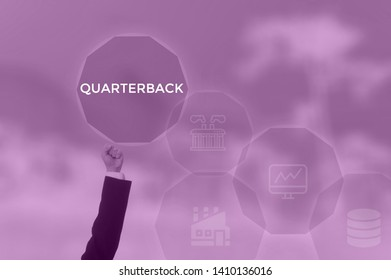 QUARTERBACK - business concept presented by businessman