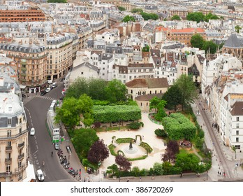 Quartier Latin of Paris  from above, France