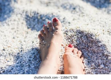 Quartz sand - Mari Ermi beach, Sardinia, Italy