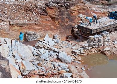 Quartzite exploration mine in Pirenopolis