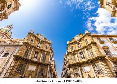 Quattro Canti, (Piazza Vigliena), is a Baroque square in Palermo, Sicily, southern Italy.