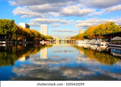 Quays of Seine and Loire in the 19th arrondissement of Paris. The canal flowing between those quays is a prolongation of the Canal Saint Martin.