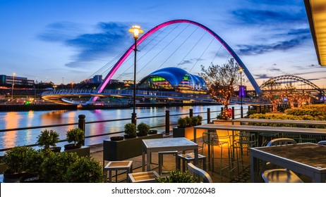 The Quayside in Newcastle upon Tyne, England