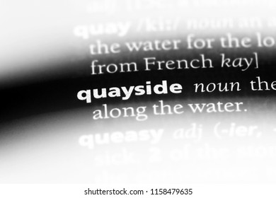 quayside word in a dictionary. quayside concept.