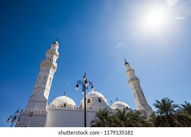 Quba / Kuba Mosque, the first mosque that built by Prophet Muhammad in Medina. Pilgrims during hajj and umra visit this mosque