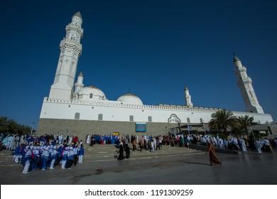 Quba/kuba Masjid:April 2018,the first mosque that built by prophet Muhammad in madinah,Saudi ARABIA.