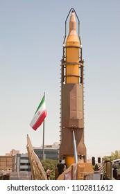 Quds Day rally, Display middleware missiles, Zulfiqar rocket, Iranian Revolutionary Guards, Iran Tehran, june 23, 2017.