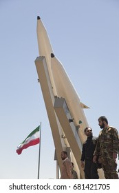 Quds Day rally, Display middleware missiles, Zulfiqar rocket, Iranian Revolutionary Guards, Iran Tehran, june 23, 2017.