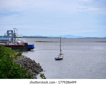Quebec, Quebec, Canada 07/19/2020: L'Isle-aux-Grues Montmagny Ferry Quebec, Canada.