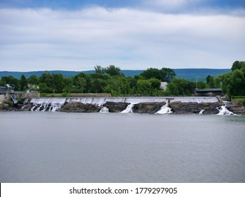Quebec, Quebec, Canada 07/19/2020:   View of montmagny basin and falls