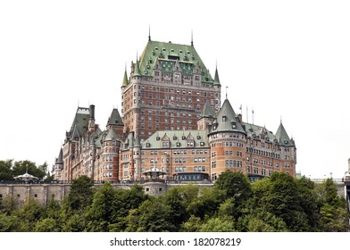 QUEBEC CITY, CANADA - AUGUST 21: Chateau Frontenac Hotel on August 21, 2010 in Quebec City, Canada. The first version of this castle like hotel was designed by Bruce Price and opened to public in 1893