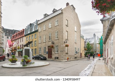Quebec City, Canada - August 5, 2015strolling in the street of Quebec City during a summer morning.