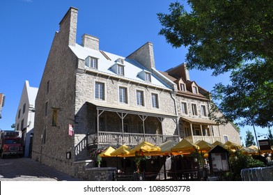QUEBEC CITY, CANADA - SEP 10, 2011: French Style Houses near Place Royale in Lower Quebec City (Basse-ville) in Quebec, Canada. Historic Quebec City is UNESCO World Heritage Site since 1985